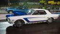 early ford mustang drag racing barona night